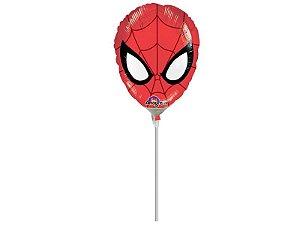 Balão Metal Mini Shape Máscara Homem Aranha