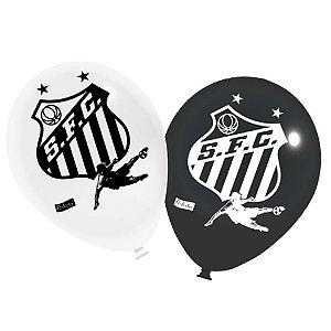 Balão / Bexiga Festcolor Nº9 | Santos F.C. | C/25