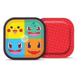 Prato Quadrado 18cm Pokémon C/8