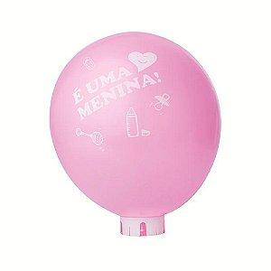 Balão / Bexiga Nº11 | Chá de Bebê Rosa É uma menina! | C/25