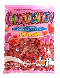 Bala de Chocolate Confeitada em Coração 350g