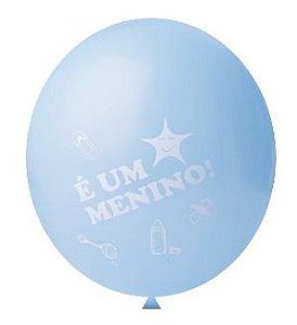 Balão | Bexiga Nº11 | Chá de Bebê Azul ''É um menino!'' | C/25