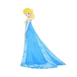 Mini Personagens Frozen: Elsa C/06