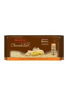 Barra de Chocolate Branco Chocolatier Mavalério 1Kg