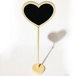 Placa Coração em Madeira