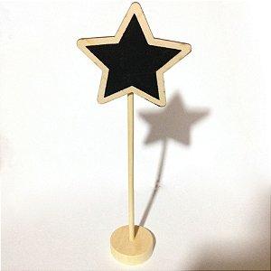 Placa Estrela Em Madeira C/06
