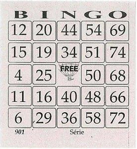Cartela De Bingo C/200