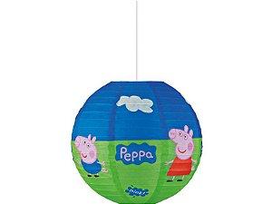 Lanterna De Papel Redonda Peppa Pig 30cm
