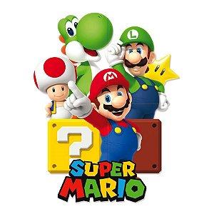 Painel 4 Laminas Super Mario