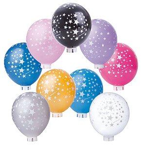Balão / Bexiga Happy Day Nº11 | Happy Stars Sortido | C/25