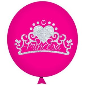 Balão / Bexiga Happy Day N11 | Reino Princesa Glitter C/12