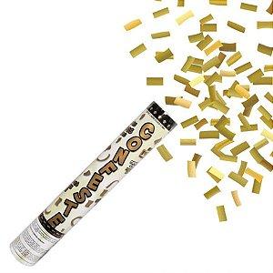 Lança Confete Dourado 30cm Mundo Bizarro