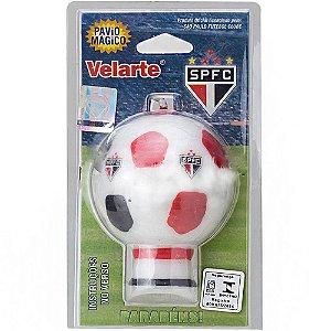 Vela em Formato Bola São Paulo F.C Com Pavio Mágico
