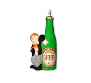 Vela Manguaça Beer C/ Pavio Mágico