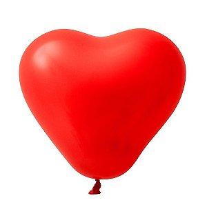 Balão / Bexiga Coração Nº6 C/30