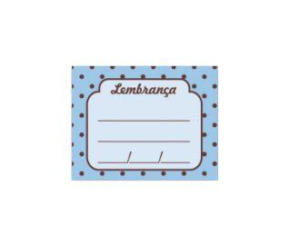 Cartão Lembrança Chá De Bebê Azul C/48