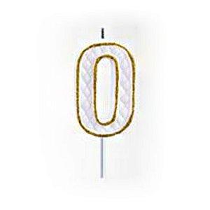Vela Numérica Dourado N°0