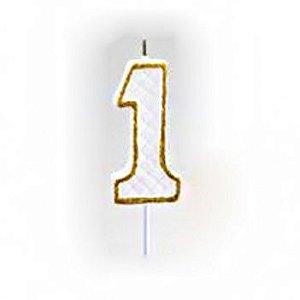 Vela Numérica Dourado N°1