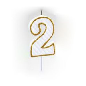 Vela Numérica Dourado N°2