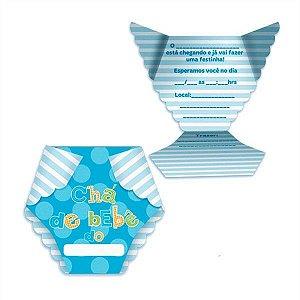Convite Fisher Price Chá de Bebê | Azul | C/08
