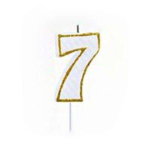 Vela Numérica Dourado N°7