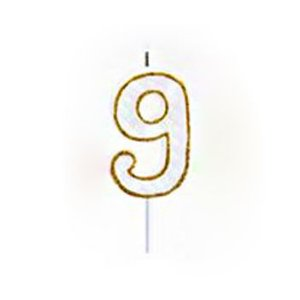 Vela Numérica Dourado N°9