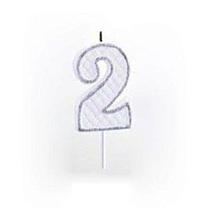 Vela Numérica Prata N°2