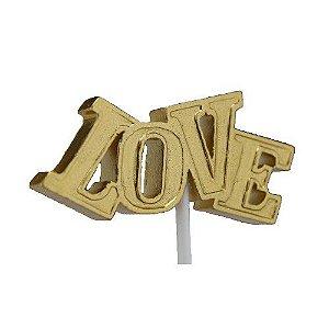 Vela Love Dourada