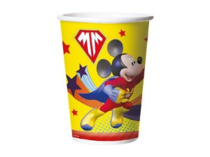 Copo Papel Descartável Mickey Super Herói 330ml