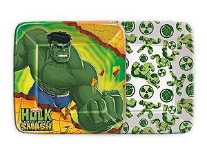 Prato Quadrado 18cm Hulk C/8