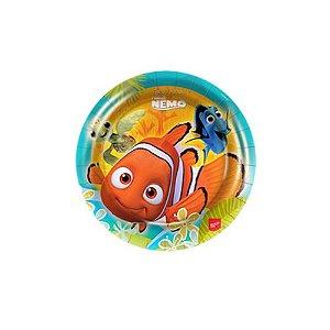 Prato Descartável Redondo Procurando Nemo C/8