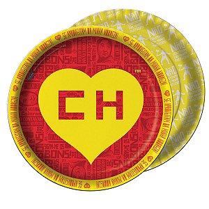 Prato Chapolin Colorado Descartável C/08 UN
