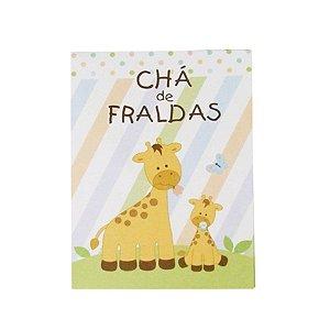 Convite Chá de Fraldas Girafa C/10