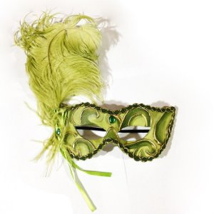 Máscara Noiva Eva Luxo Verde
