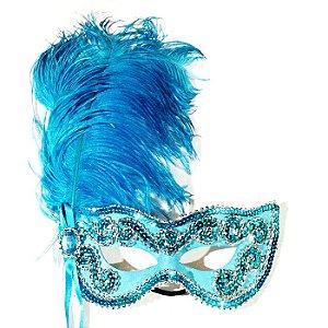 Máscara Noiva Eva Luxo Azul