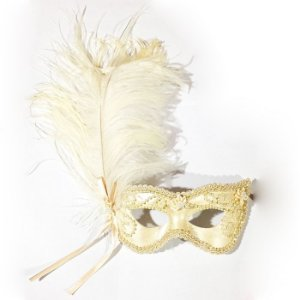 Máscara Noiva Luxo Bege