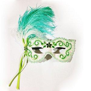 Máscara Noiva Luxo Verde Água