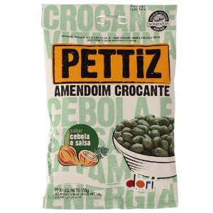 Amendoim Crocante Pettiz Cebola e Salsa 150GR