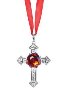 Colar Crucifixo De Vampiro Halloween