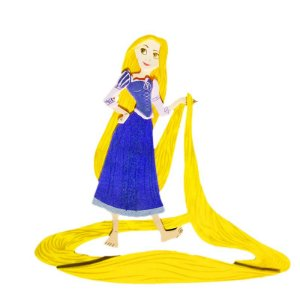 Mini Personagem em EVA: Rapunzel C/06