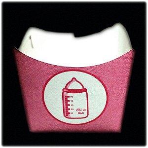 Forminha Para Doces Mamadeira Rosa C/36 UN