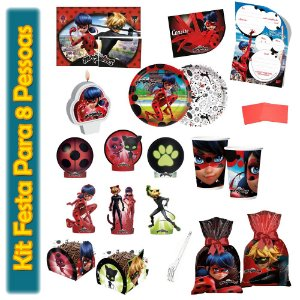 Kit Para Festa Miraculous: LadyBug - Para 8 Pessoas.