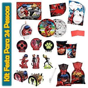 Kit Para Festa Miraculous: Ladybug - Para 24 Pessoas.