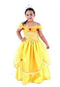Fantasia Princesa Bela Fera Infantil