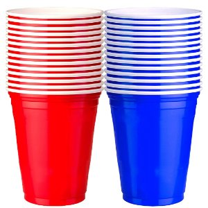 300 Unidades de Red e Blue Cups Variados | 400ml