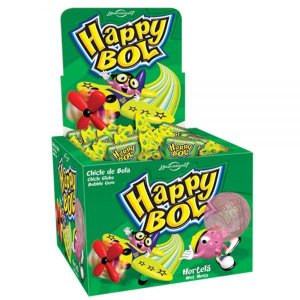 Chicle Happy Bol  Hortelã