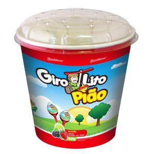 Pirulito Girolito Pião Morango 640gr C/80