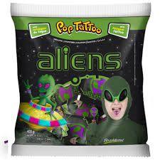 Pirulito Pop Tattoo Aliens - Maçã Verde | 400g