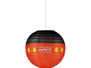 Kit Lanterna De Papel Redonda Mickey - 20cm C/10