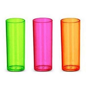 Copo Acrílico Long Drink  Neon - 320ml